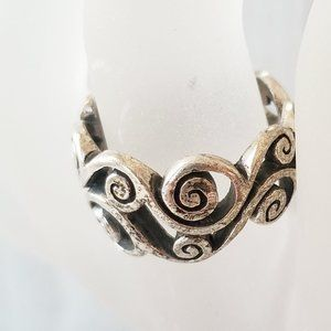 Jewelry - Vintage Swirl Filigree Tapered 925 Silver Ring